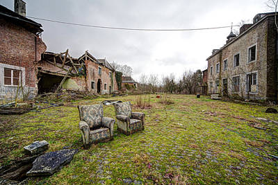 seats for two Abandoned places Print by Dirk Ercken