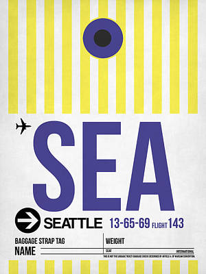 Seattle Mixed Media - Seattle Airport Poster 3 by Naxart Studio