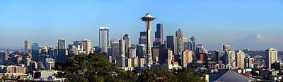 Seattle Skyline Photograph - Seattle City Skyline And Downtown by Panoramic Images