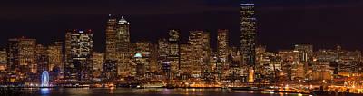 Seattle Skyline Photograph - Seattle Cityscape Details by Mike Reid