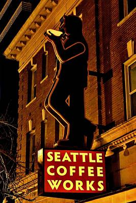 Coffeehouse Photograph - Seattle Coffee Works by Benjamin Yeager