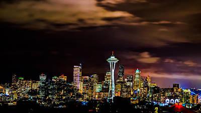 Seattle Downtown Print by Rajiv Karanam