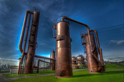 Seattle Gas Works Park Print by Puget  Exposure