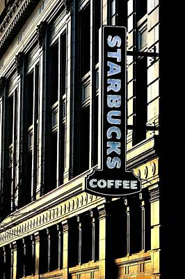 Starbucks Coffee Photograph - Seattle Icon by Benjamin Yeager