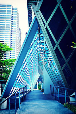 Northwest Library Photograph - Seattle Library Triangle by Tanya Harrison
