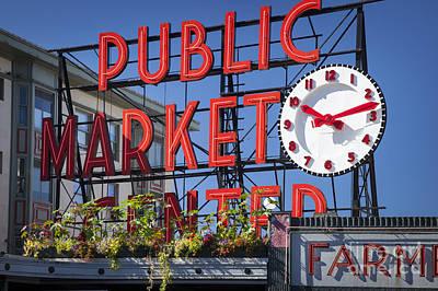 Locally Grown Photograph - Seattle Market  by Brian Jannsen