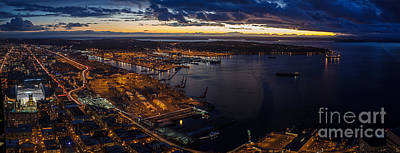 Puget Sound Photograph - Seattle Monday Night Football by Mike Reid