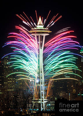 Seattle New Year Print by Inge Johnsson