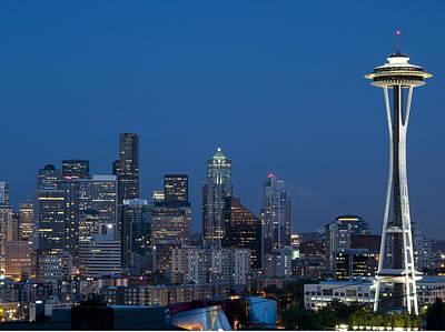 Seattle Nights Print by David Yack
