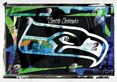 Seattle Photograph - Seattle Seahawks 12th Man by RJ Aguilar