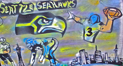 Moral Painting - Seattle Seahawks 2 by Tony B Conscious