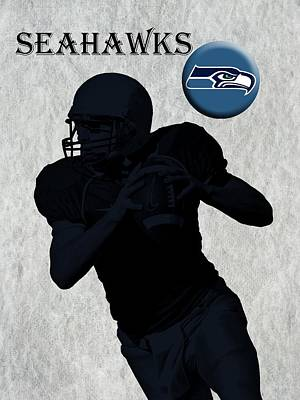 Seattle Seahawks Football Print by David Dehner