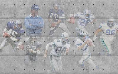 Seattle Seahawks Legends Print by Joe Hamilton