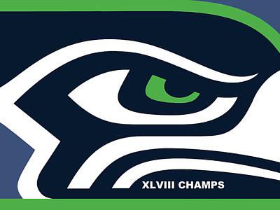 Icon Mixed Media - Seattle Seahawks Super Bowl Champs by Tony Rubino