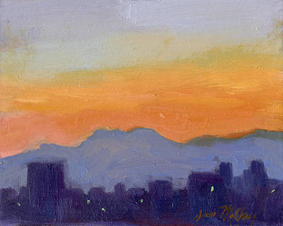 Seattle Skyline Original by Diane McClary