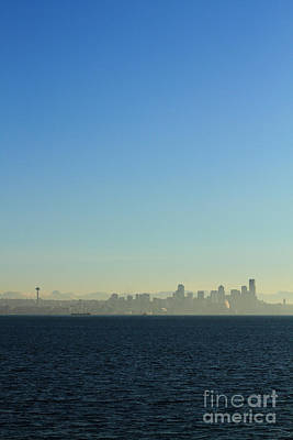 Pearl Jam Photograph - Seattle Skyline by Hans Koepsell
