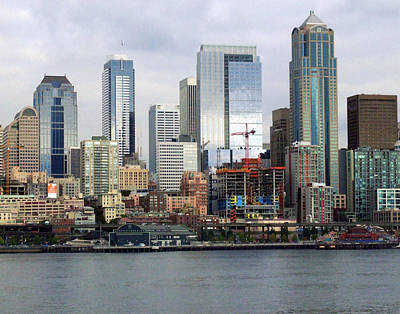 Seattle Skyline Print by Ron Roberts