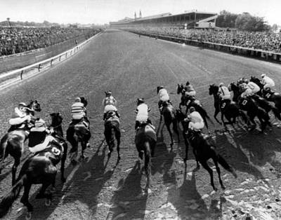 Seattle Slew Horse Racing #01 Print by Retro Images Archive