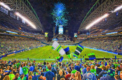 Seattle Sounders Rock Print by John Farr