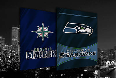 Seattle Sports Teams Print by Joe Hamilton