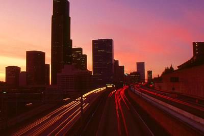 Seattle Sunset - City Color Photo Print by Art America - Art Prints - Posters - Fine Art
