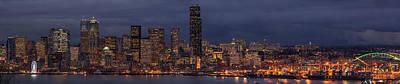 Seattle Skyline Photograph - Seattle Urban Details Dusk by Mike Reid