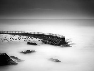 Strong Contrasts Photograph - Seawall by Alexander Kunz