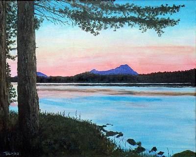 Maine Mountains Painting - Sebec Lake Maine by William Tremble