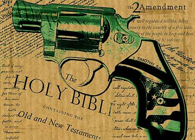 Bill Of Rights Mixed Media - Second Amendment by ABA Studio Designs