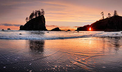 Best Ocean Photograph - Second Beach Sunset by Leland D Howard