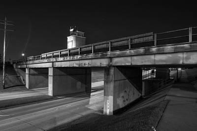 Okc Photograph - Second Street Bridge by Nathan Hillis