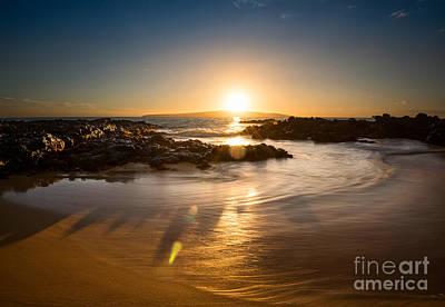 Secret Beach Sun Print by Jamie Pham