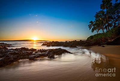 Secret Beach Sunset Print by Jamie Pham
