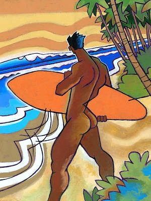 Surf Painting - Secret Break by Douglas Simonson