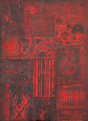 Patchwork Quilts Mixed Media - Secret Garden #2 by Karen Coggeshall