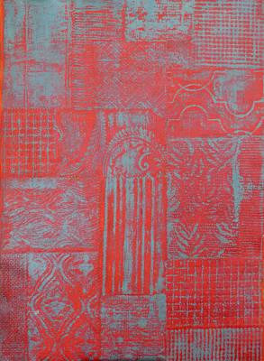 Patchwork Quilts Mixed Media - Secret Garden #3 by Karen Coggeshall