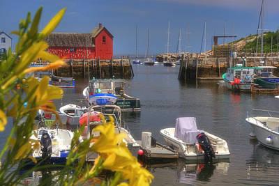 Fishing Photograph - Secret Harbor - Rockport Ma by Joann Vitali