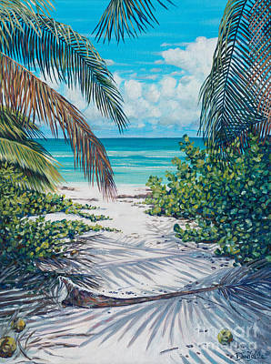 Limited Edition Painting - Secret Path by Danielle  Perry