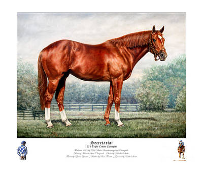 Painting - Secretariat Triple Crown Champion by Thomas Allen Pauly