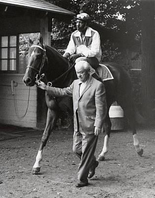 Secretariat Photograph - Secretariat Vintage Horse Racing #05 by Retro Images Archive