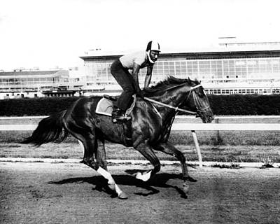 Secretariat Photograph - Secretariat Vintage Horse Racing #14 by Retro Images Archive