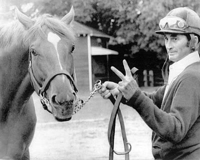 Secretariat Photograph - Secretariat Vintage Horse Racing #15 by Retro Images Archive