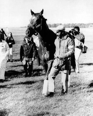 Secretariat Photograph - Secretariat Vintage Horse Racing #16 by Retro Images Archive