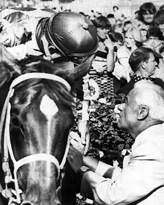 Secretariat Photograph - Secretariat Vintage Horse Racing #19 by Retro Images Archive