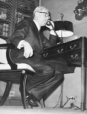 Secretary Of Labor Goldberg Print by Underwood Archives