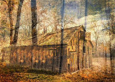 Fantasy Tree Mixed Media - Secrets Barns Keep by Georgiana Romanovna