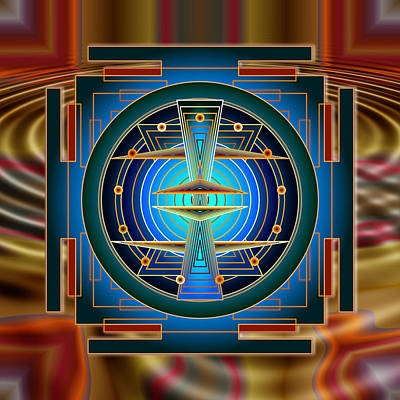 Secrets Of Mandala Time Print by Mario Carini