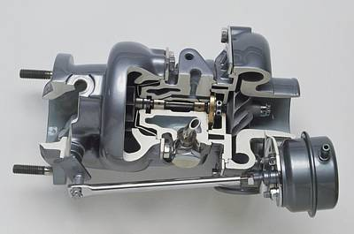 Sectioned Modern Turbocharger From An Car Print by Dorling Kindersley/uig