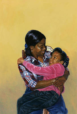 African-american Painting - Secure by Colin Bootman