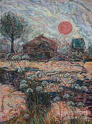 Sedgy Pond Original by Anna Yurasovsky